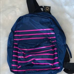 Cynthia Rowley navy blue and pink backpack